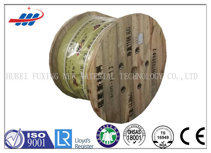 Ungalvanized Elevator Wire Rope ZS Lay With Diameter 13mm , 8x19W+FC