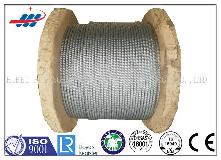 Galv Elevator / Aircraft Wire Rope Zinc Coated With 1570-1960MPA Tensile Strength