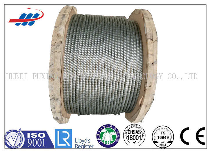 High Carbon Hot Dipped Galvanized Steel Wire Rope With Tensile Strength 1770MPA