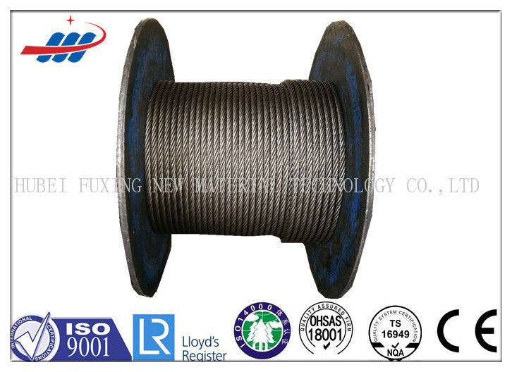 6x29FI+IWS Non Spin Ungalvanized Steel Wire Rope For Heavy Machinery