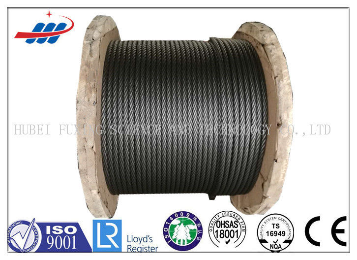 34x7+FC Loading Ungalvanized Steel Wire Rope 6-48mm Gauge , DIN / EN Standard